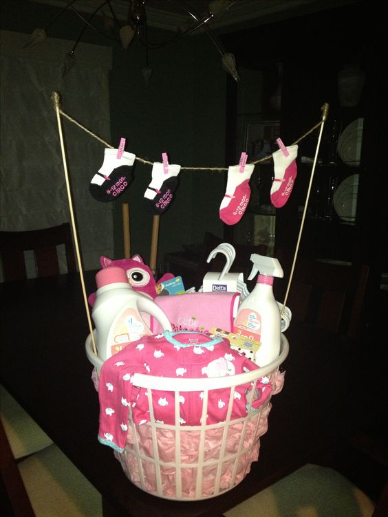 Laundry Basket Baby Shower Gift Baby Gifts Pinterest