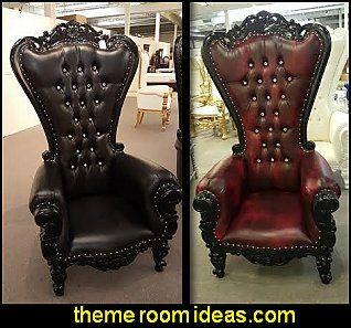 Throne Chair Black Gothic Chair High Back Chair