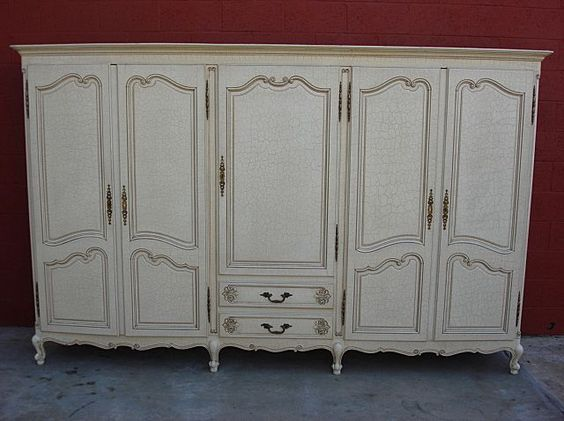 Bon French Antique Armoire Wardrobe Closet Cabinet   Could We Make This Using  Exising Doors On Property