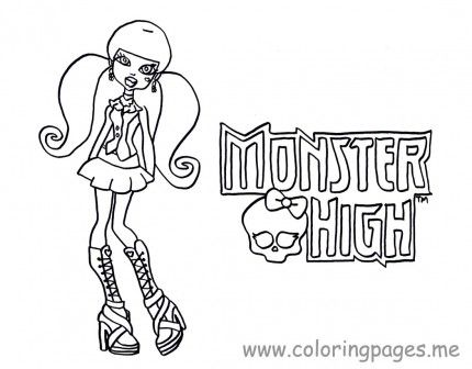 Monster High Coloring Pages