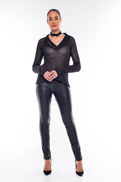 Leggings - Vegane Kunstlederhose, enganliegende Stretchhose - ein Designerstück von ElianaStudio bei DaWanda