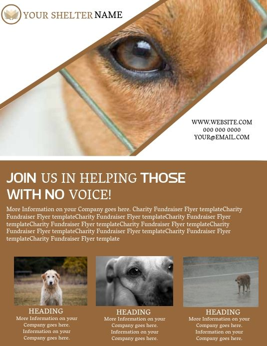 Dog Shelter Rescuer Flyer Template In 2020 Pet Adoption Animal Abuse Awareness Dog Charities