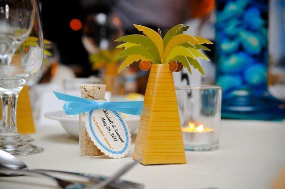 Wedding table ornaments.