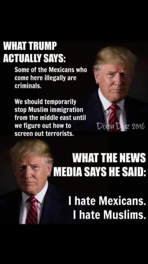 This is why I no longer listen to the media. I read full transcripts, etc. to find out what is really being said and done. And, no surprise, neither candidate is qualified to be president.