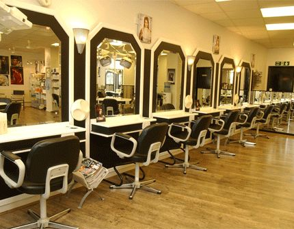 KH Hair Salon in Mansfield - beautiful salon design with a striking layout.    http://www.khhair-mansfield.co.uk/#