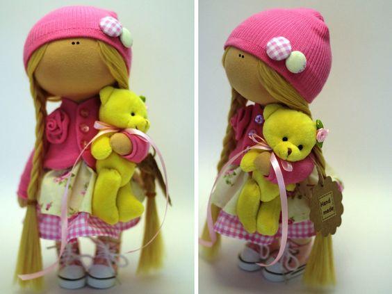 Детские куклы ткани куклы Весна куклы ручной работы AnnKirillartPlace: