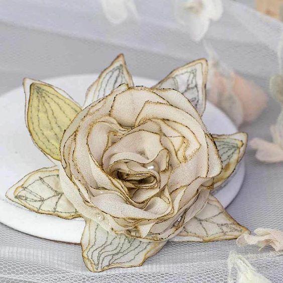 vintage inspired silk rose by ewa morawski textiles | notonthehighstreet.com