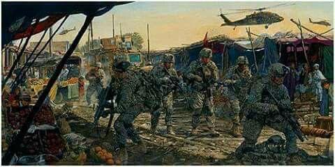 Tropas de los USA en la guerra de Afganistán