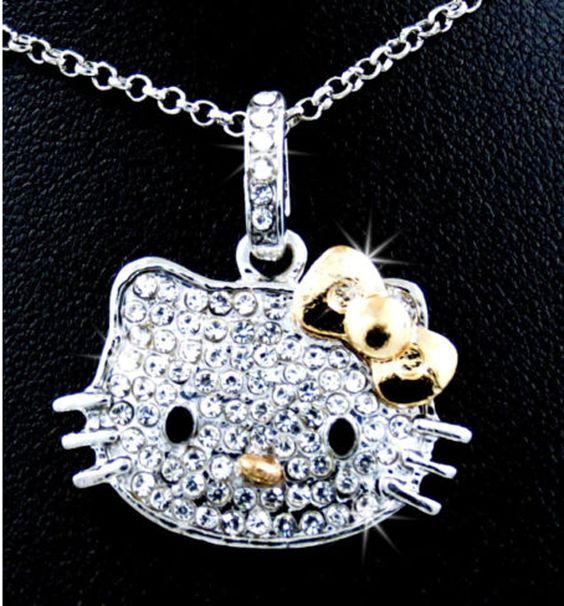 Kitty Crystal Pendant necklace