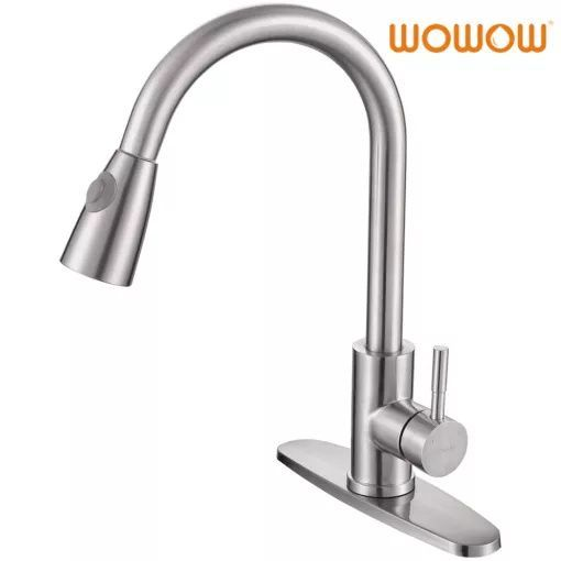 Wowow High End Kitchen Faucet Brushed Nickel Pull Down In 2020