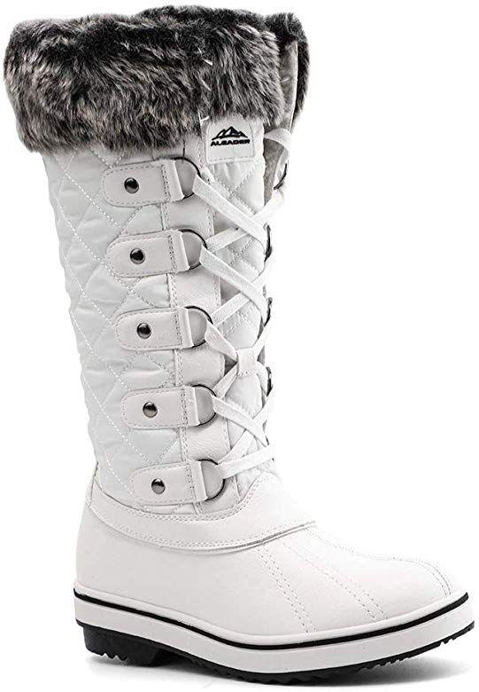 Waterproof Winter Snow Boots White