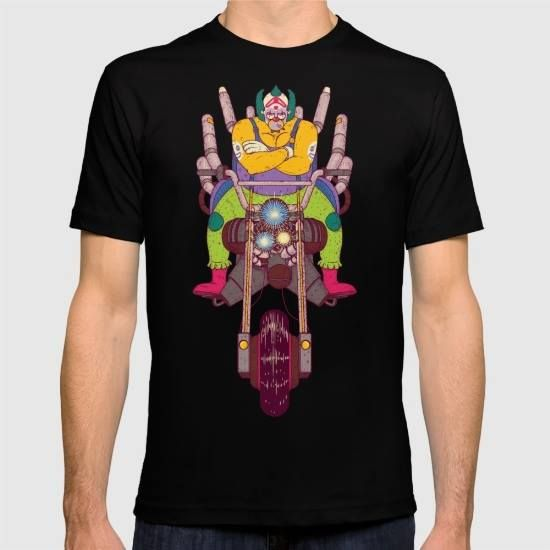 (Unisex Krusty the Biker Gang Neo-Tokyo Clown T-Shirt) #Andbloom #Bartkira #BARTKIRAAkira #Clown #GraphicDesign #Illustration #JackBloom #Krusty #NeoTokyo #Typography #Vector is available on Funny T-shirts Clothing Store   http://ift.tt/2ePkhUz
