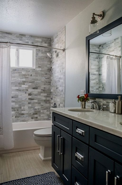 Get Inspired With These Gray Bathroom Decorating Ideas Restroom Ideas Gray Bathroom Walls Small Bathroom Remodel Bathroom Remodel Master Small Bathroom Decor