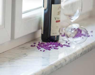 Fensterbank Marmor Bianco Carrara