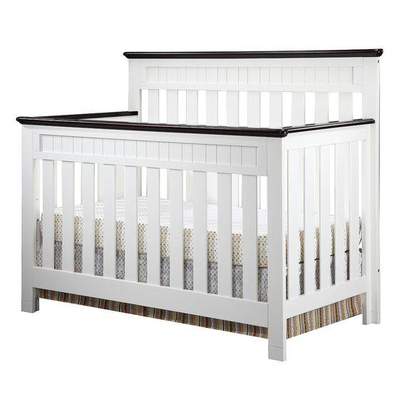 Delta Chalet 4 in 1 Lifetime Crib White Ambiance Dark