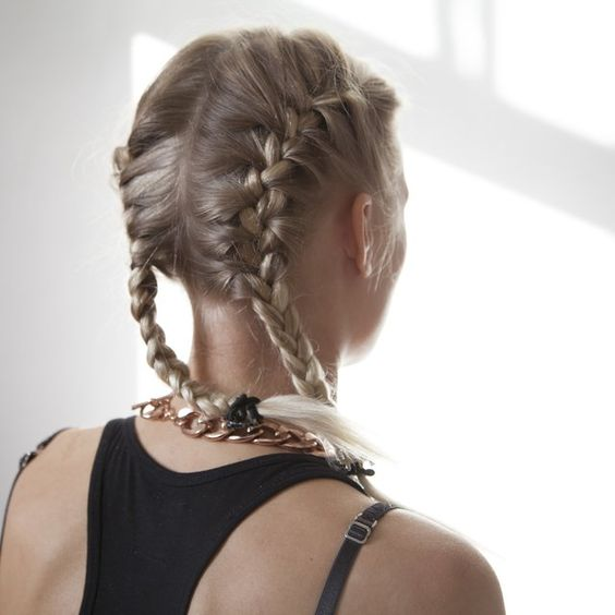 Groovy How To Do Two French Braids On The Side Of Your Head On The Side Short Hairstyles Gunalazisus