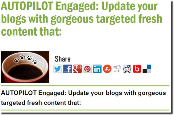 AUTOPILOT Engaged: Update your blogs with gorgeous targeted fresh content that: