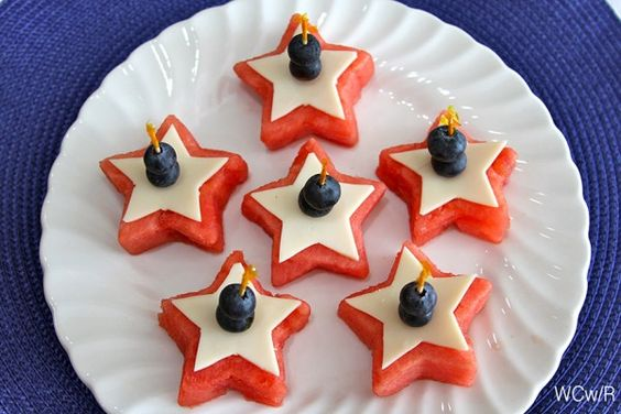 4th of July Watermelon Appetizer... fun and delish!