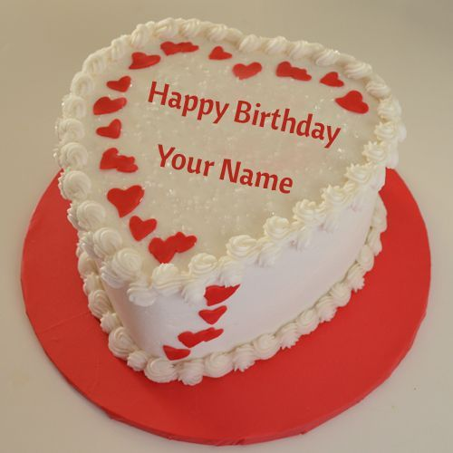 Birthday Cake Images With Name Khushbu : White chocolate cake, Cake photos and Cake name on Pinterest