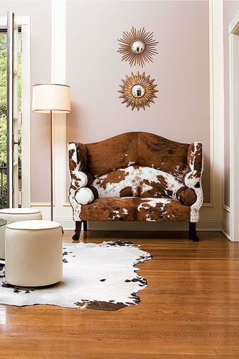 cowhide chic