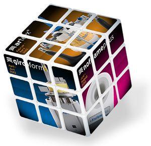 Der Zauberwürfel ist ein mathematisches Drehpuzzle in Würfelform. KMS holt den Klassiker des hochgeistigen Zeitvertreibs zurück als individuelles, 4-farbig zu bedruckendes Werbemittel.