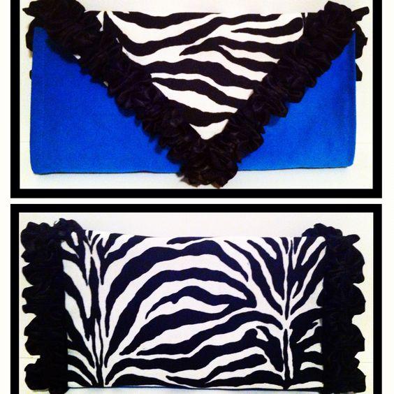 Capri Blue Zebra $35 Designer Clutch by Jurney Jurray, the latest addition to Jurney's Glam-Bags available at http://www.jurneyjurray.com/Capri-Blue-Zebra-jh-cbz.htm