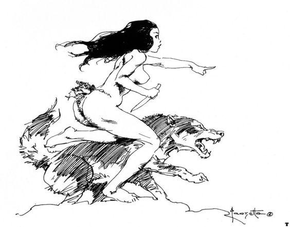 Mais uma série de artes preto e branco do Frazetta! Esta aqui tem uns desenhos que chama a atenção por serem, visivelmente, esbocinhos rápidos. Quase rascunhos. E MESMO assim são ilustrações simple…
