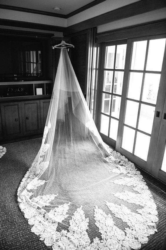 Wow look at that wedding veil!  http://www.pinterest.com/JessicaMpins/  #vestidodenovia | #trajesdenovio | vestidos de novia para gorditas | vestidos de novia cortos  http://amzn.to/29aGZWo
