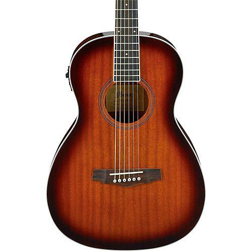 Ibanez Pn12e Mahogany Parlor Acoustic Electric Guitar Ibanez Guitars Guitar Acoustic Electric