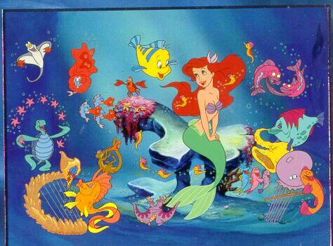 Little mermaid singing fish little mermaid hall theme for Little mermaid fish