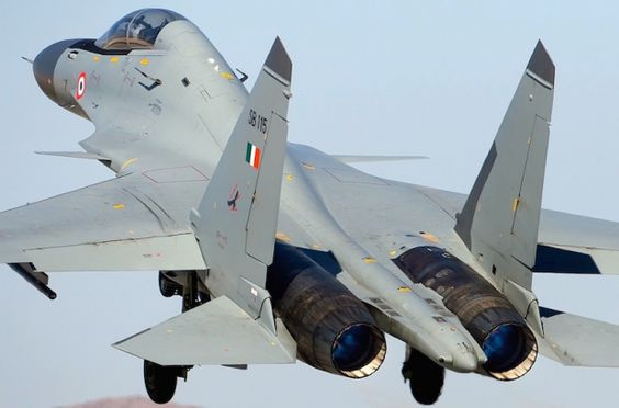 "Sukhoi Su30MKi ""Flanker-H"" of Indian Air Force."