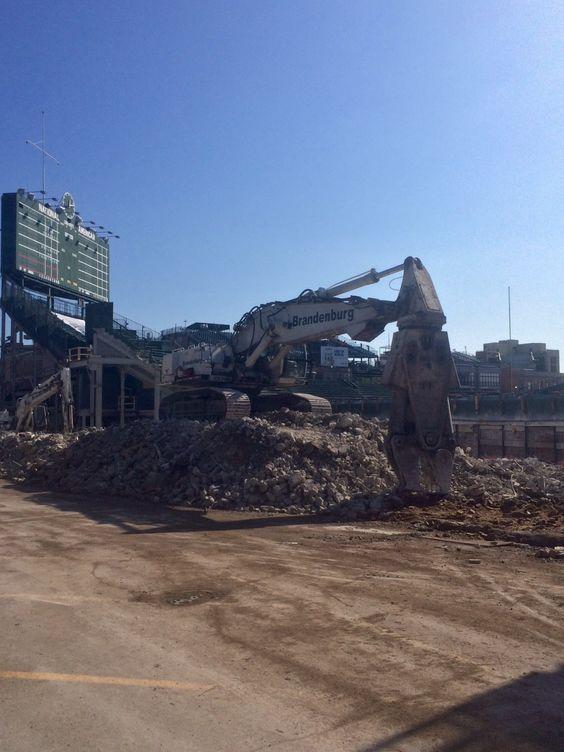 Wrigley Field construction