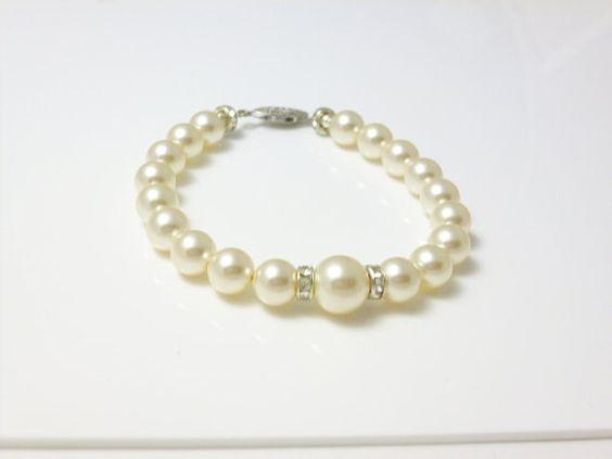 Pulsera de perlas pulsera de Dama de honor por perlizjewelcreations