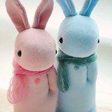 手作襪子娃娃~灰色小兔(灰色或深灰色) Just for buyer Kicki Strandberg - 設計師 自然瘋。瘋自然手作 - Pinkoi