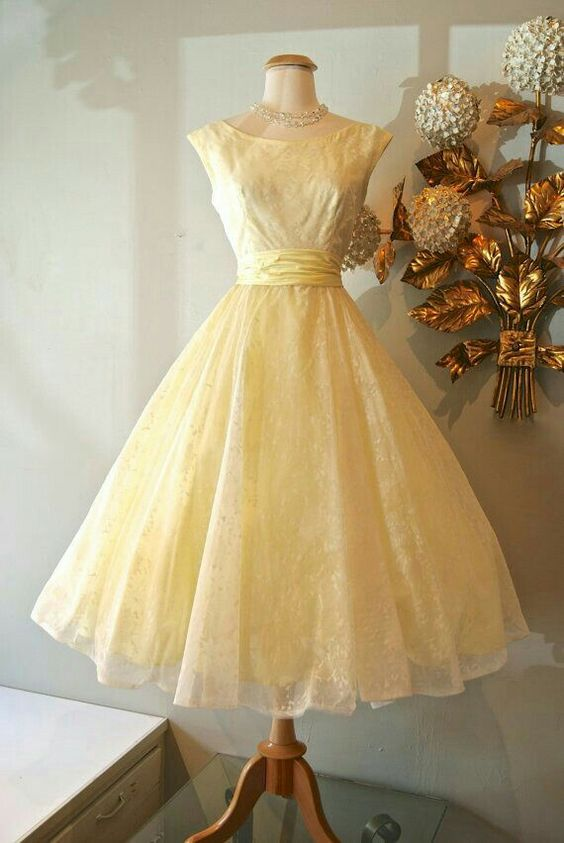 Cute Vintage yellow dress - Dresses &lt-3 - Pinterest - Vintage ...