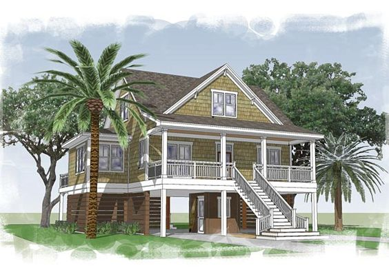 Capers Island   Coastal Home Plans (1,683 Heated Sf, 3bd/2.5 Ba) L Beach Home  Designs L Www.DreamBuildersOBX.com   Beach Home Designs   Pinterest   House  ...
