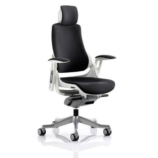 Zeta Executive Office Chair In Black Fabric Executive Office