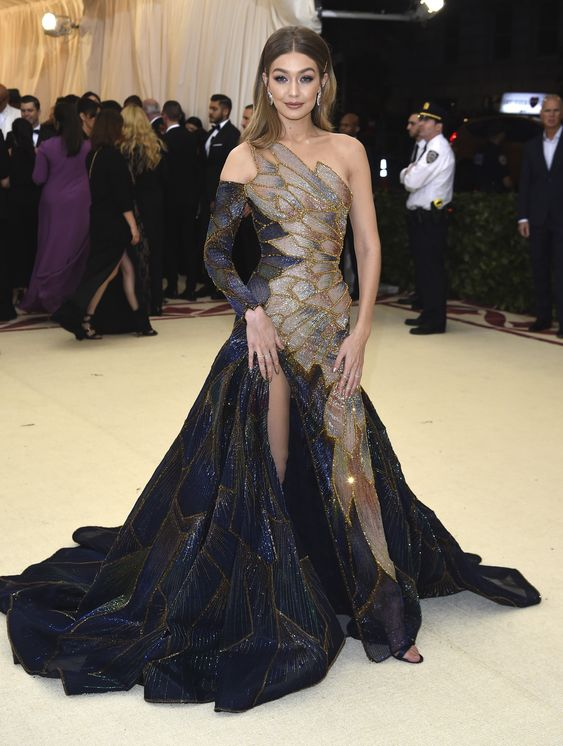 Met Gala 2018: Gigi Hadid - pageantry and performance on the red carpet – in pictures - Photo by Evan Agostini/Invasion/AP