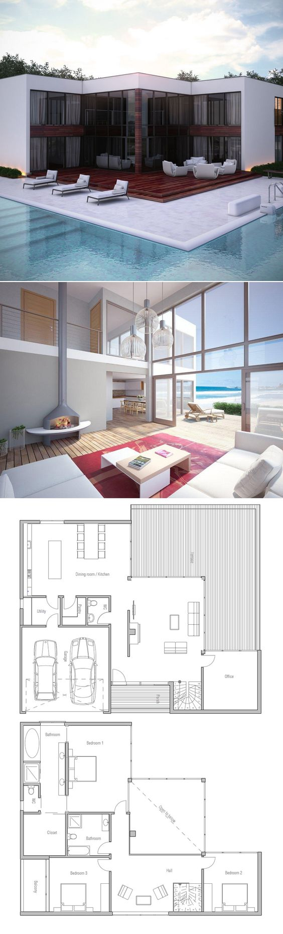 Floor area: 273 m² Building area: 172 m² Bedrooms: 3 Bathrooms: 3 Floors: 2 Height: 5.9 m Width: 17.1 m Depth: 13.8 m Cost to Build: from $ 270 000