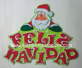 Miss Dorita Letrero Feliz Navidad Letras Feliz Navidad Letrero De Feliz Navidad Manualidades Navidad Goma Eva
