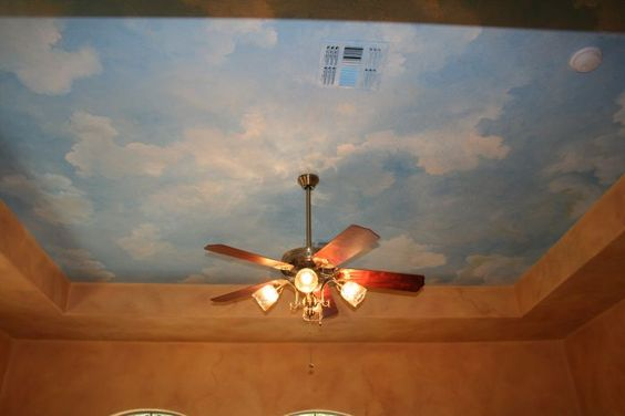 Image detail for san antonio ceiling clouds mural photo for Ceiling cloud mural