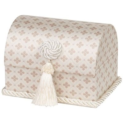 Jennifer Taylor Lumina Envelope Chest with Button Knot, Tassel and Cord, Lined
