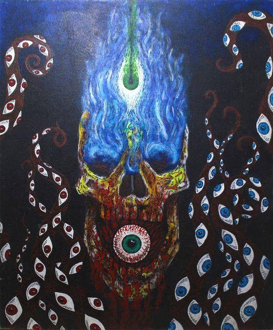 Olhos da Escuridão - Acrylic on canvas 80x60cm