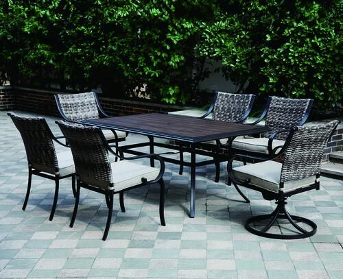 Backyard Creations Vanderbuilt Collection 7 Piece Dining Patio