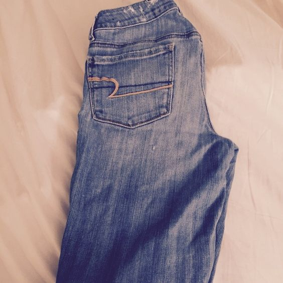 American eagle ripped jeans Skinny blue ripped jeans Jeans Skinny