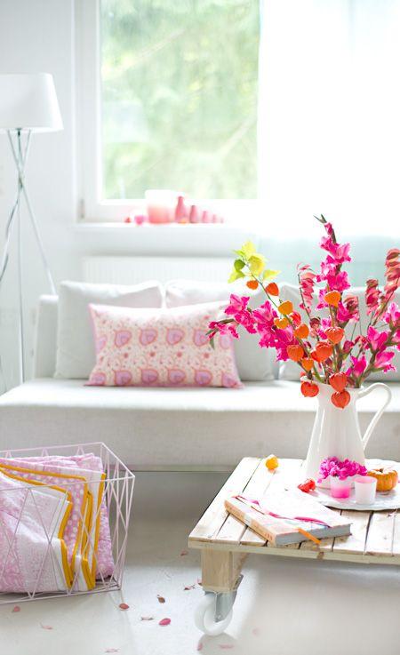 wohnzimmer deko pink:herbstliche deko im wohnzimmer wunderschön-gemacht: herbst.knüller