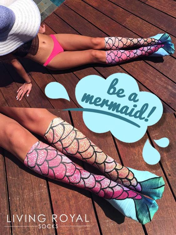 Mermaids do exist! The coolest socks on planet earth. Start expressing yourself with Living Royal. Use 'GET10OFF' for 10% off all orders plus $3 flat-rate shipping on all US orders!