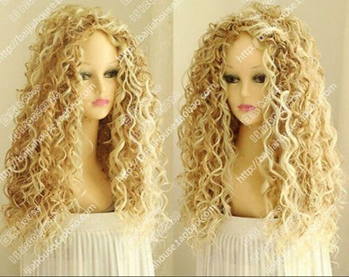 Fashion-Wig-New-Long-Sexy-Womens-Mix-Blonde-Cosplay-Party-Curly-Natural-Wigs
