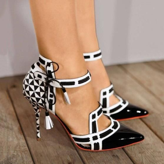 Ladies Women/'s Ankle Strap Geometric Hollow-Out  Peep Toe High Heel Shoes Sandal