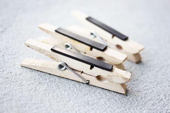 DIY: clothespin magnets